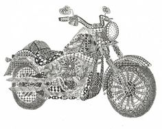 Zentangle Inspired Laser Print of Fatboy by Leopartude. Seen on Etsy.