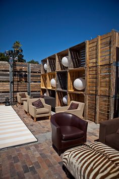 "Wowww...  Wedding Ideas..lots of pallets used in this outdoor setting...pinned to ""It's a Pallet Jack"" by Pamela"
