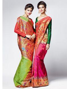 Shop Pink Pure Paithani Silk Saree By G3+ Video Shopping