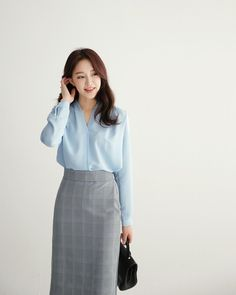 everyday NEW dahong Korean Fashion Work, Work Fashion, Modest Fashion, Skirt Fashion, Daily Fashion, Fashion Outfits, Street Style Trends, Uniqlo Style, Business Outfits Women