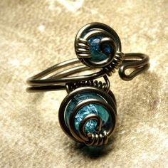 TiLT Treasures...: Wire Wrapped Rings