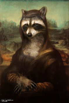 Raccoona Lisa by Winston1982 14th place entry in Animal Renaissance 10. Anthropomorphic digital art.