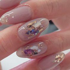 Japanese Nail Design, Japanese Nails, Bunny Nails, Korean Nail Art, Trendy Nail Art, Minimalist Nails, Bridal Nails, Gel Nail Designs, Gold Nails