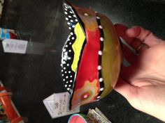 Cute bowl painted by customer at DIO