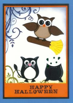 cupcake punch cards ideas | Pooh & Piglet punch art card using Stampin Up owl punch. You can use ...
