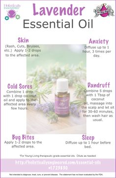 Way to Use Lavender Essential Oil #essentialoils #youngliving If you are interested in Young Living, let me know! Distributor #2101043
