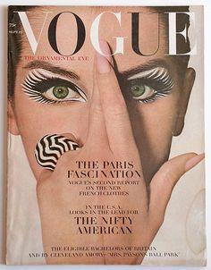 Vogue Fashion Magazine, September 1964. Cover Model: Veronica Hamel.