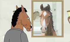 Image result for bojack looking at mirror