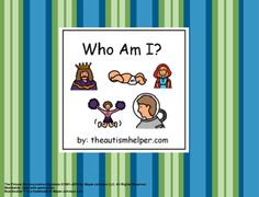 Who Am I? Adapted Book for Children with Autism {work on making inferences and answering the 'who' question} by theautismhelper.com