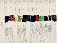 Коллекция Yves Saint Laurent Spring-summer 1971 haute couture collection