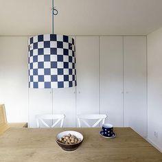maminčina modro-bílá kuchyně