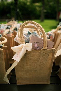 Beautiful Seaside Wedding Where the Palm Trees Sway Favors bags for guests Wedding Gifts For Guests, Wedding Set Up, Wedding Favor Bags, Seaside Wedding, Wedding Favors Cheap, Destination Wedding Welcome Bag, Wedding Welcome Bags, Filipiniana Wedding Theme, Decoration