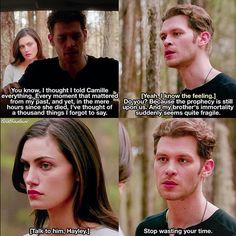 That time (one of many) Klaus was everything that Hayley needed.