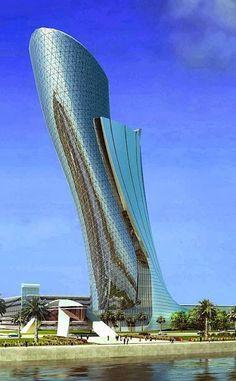 Google+Capital Gate in Abu Dhabi