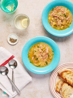 This slimming friendly Ham, Leek and Potato Soup is just the thing for lunch or an evening meal when the nights start drawing in.