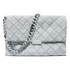 Stella McCartney Quilted Dartmoor Bag ($1,385) ❤ liked on Polyvore featuring bags, handbags, shoulder bags, accessories bags, grey, stella mccartney handbags, gray purse, stella mccartney purses, grey purse and chain handle handbags