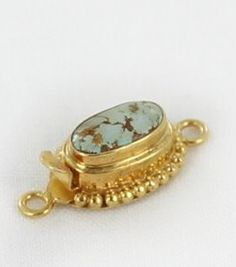 18K GOLD PERSIAN TURQUOISE CLASP