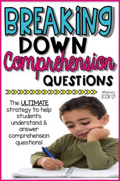 Teaching comprehension to students can be hard, especially figuring out how to ask the right questions and having students answer the questions. I've got a great strategy that helps teach students how Reading Comprehension Strategies, Comprehension Questions, Reading Fluency, Reading Intervention, Differentiation Strategies, Comprehension Worksheets, Reading Help, Reading Lessons, Reading Skills