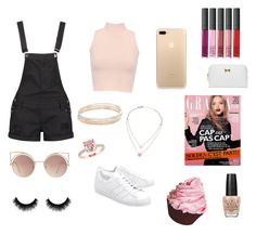 """""""Baby pink❤️"""" by beautychecks on Polyvore featuring mode, WearAll, Boohoo, adidas Originals, Kate Spade, Michael Kors, MANGO, OPI en Ted Baker"""