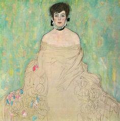 Gustav Klimt (1862-1918) Pintor austriaco. Fue la figura más representativa del modernismo pictórico Jugendstil.  Amalie Zuckerkandl 1918  Galerie Belvedere , Vienna