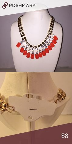 Orange rhinestone and gold decorative necklace New 🌟🌟 Bundle and Save🌟🌟 Jewelry Necklaces