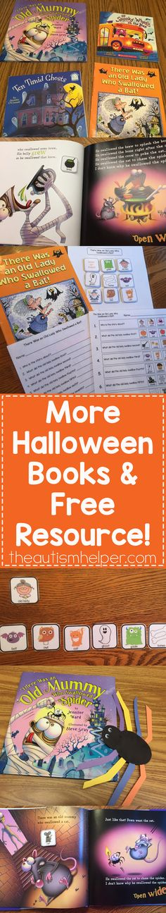 We've got 2 more Halloween adapted books plus a FREE resource for each book! From theautismhelper.com #theautismhelper