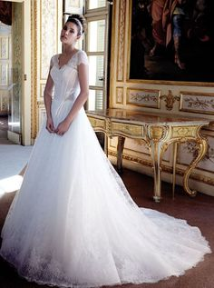 Featured Dress: Stefano Blandaleone; Wedding dress idea.