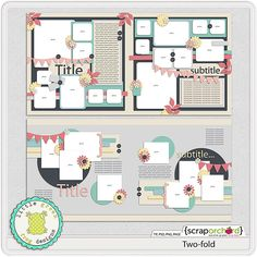 Digital Scrapbook - Two fold | Little Green Frog Designs