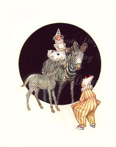 vintage circus illustrations childrens book - Google Search