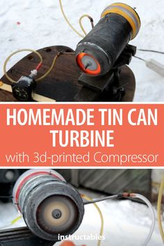 Learn how to make a really working tin can gas turbine engine with printed compressor at home. Cool Science Projects, Engineering Projects, Electronic Engineering, Fun Projects, Turbine Engine, Gas Turbine, 3d Cnc, Electrical Projects, Jet Engine