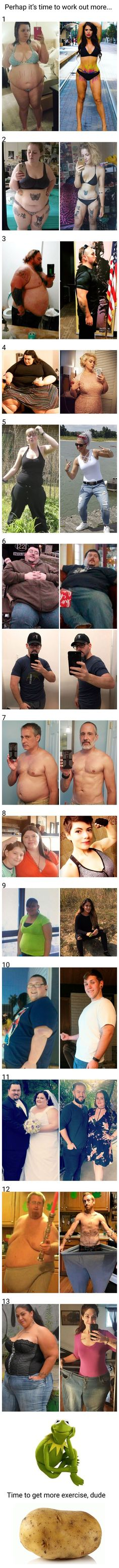 10+ Before And After Photos Of People With Dramatic Weight Loss #loseweightbeforeandafter #BellyFatTraining