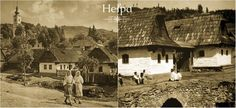 Horehronská architektúra - Heľpa, Slovakia, 50-te roky Heart Of Europe, Big Country, Cabin, House Styles, Painting, Cabins, Painting Art, Paintings, Cottage