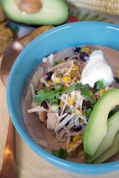 Cream Cheese Chicken Chili {Instant Pot or Slow Cooker} - Stay Fit Mom Easy Family Meals, Easy Meals, Clean Recipes, Healthy Recipes, Delicious Recipes, Healthy Meals, Sweet Potato Crackers, Cream Cheese Chicken Chili, Macro Friendly Recipes
