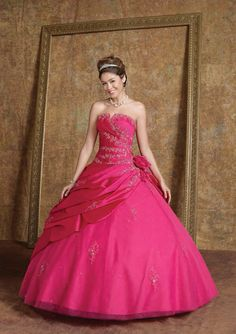 This ball gown is so gorgeous ! I want one for my wedding day or just for fun ! And don't forget, my favorite color is pink !