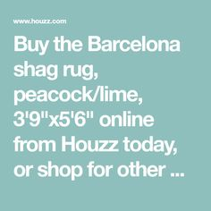 Buy The Barcelona Shag Rug Peacock Lime 3 9 X5 6 Online From