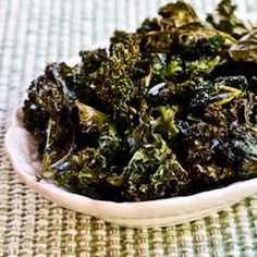 Roasted Kale Chips with Sea Salt and Vinegar Recipe Lunch and Snacks with kale, extra-virgin olive oil, vinegar, sea salt