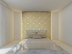 Home Decoration With Flowers Bedroom Wall, Master Bedroom, Bedroom Ideas, Porches, Bed Design, House Design, Jaali Design, Laser Cut Panels, Wood Carving Designs