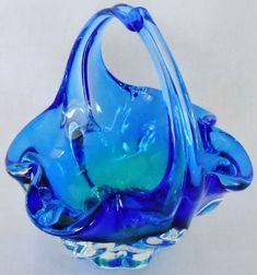 Vintage Royal Gallery Hand Blown Blue/Green by BeautyEverlasting