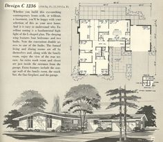 Mid Century Modern House Plans Vintage House Plans 1960s