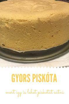 van:-) A 2 db 15 cm-es kör Hungarian Cake, Hungarian Recipes, Baking Tips, Cake Cookies, No Bake Cake, Vanilla Cake, Sweet Recipes, Cheesecake, Deserts