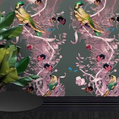 Exquisite work from wallpaper & fabric design guru Kit Miles - Birds in Chains