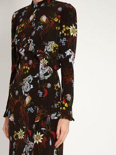 Flora Bacall Night floral-print silk dress | Erdem | MATCHESFASHION.COM
