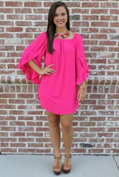 This hot pink dress is so cute