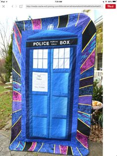 Quilt I made for my daughter for a Dr. Who party
