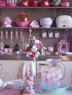 Hello Kitty Kitchenware cute pink home kitchen decorate accessories dishes hello kitty kitchenware cooking utensils
