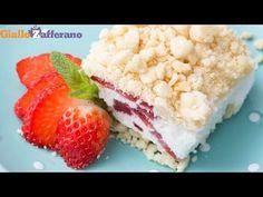 DOLCE PANNA E FRAGOLE (Crumble di fragole) - Ricetta in 1 minuto - YouTube