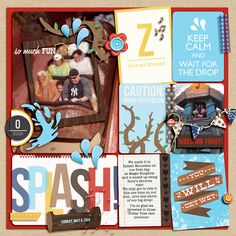 Disney Splash Mountain Digital Project Life page by julie featuring Project Mouse by Britt-ish Designs and Sahlin Studio