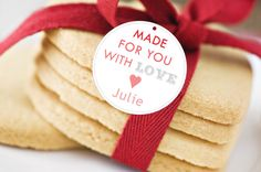 Made for You with Love gift tags; Made for you Gift tags