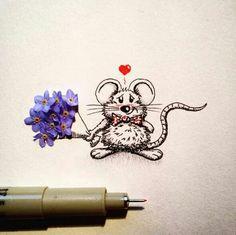 Art flowers real stedler cartoon