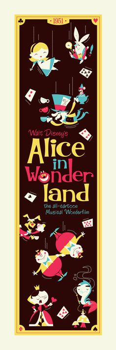 Alice in Wonderland | Dave Perillo channeling Mary Blair : - )    http://darkinkart.com/alice-in-wonderland-by-dave-perillo/